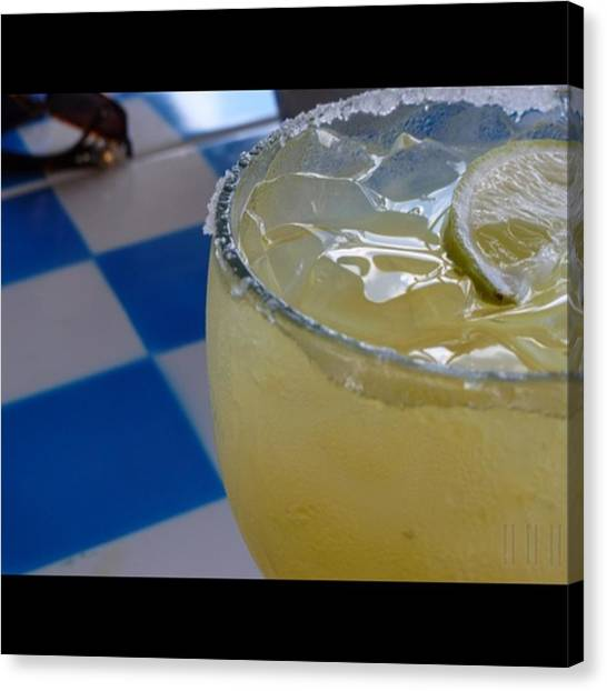 Salt Canvas Print - Mexican Margarita - On The Rocks With Salt by Jason Freedman