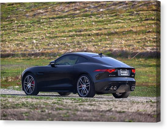 Canvas Print featuring the photograph #jaguar #f-type #print by ItzKirb Photography
