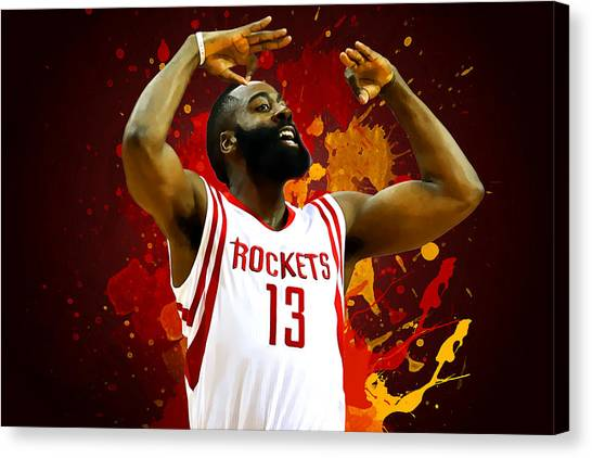 Stephen Curry Canvas Print - James Harden by Semih Yurdabak
