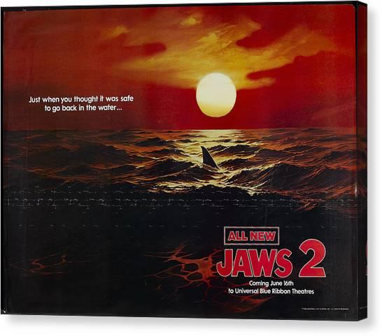 1978 Canvas Print - Jaws 2 1978  by Geek N Rock