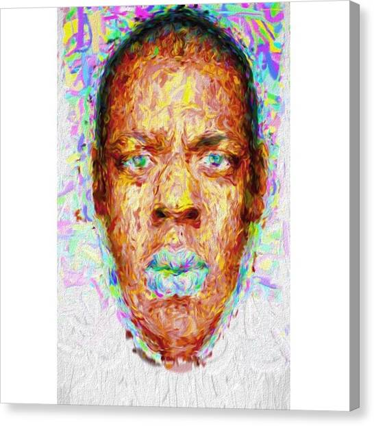 Paint Canvas Print - Jay-z May Have Come From The Streets by David Haskett II