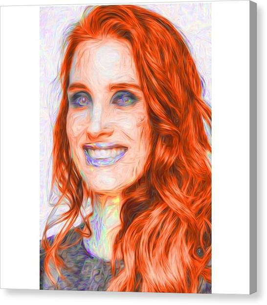 Hollywood Canvas Print - @jessicachastaindaily #jessicachastain by David Haskett II