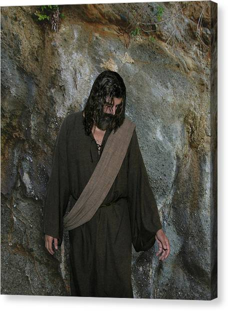 Jesus Christ- Rise And Walk With Me  Canvas Print