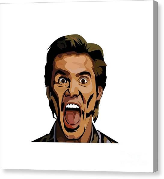 Jim Carrey Canvas Print - Jim Carrey by Wilis Kamola