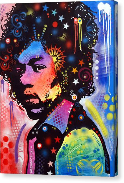 Bands Canvas Print - Jimi Hendrix by Dean Russo Art