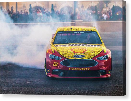 Joey Logano Canvas Print - Joey Logano  by James Marvin Phelps