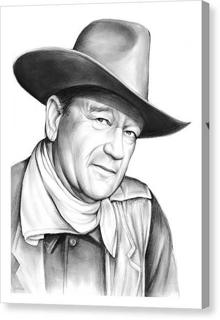 Duke University Canvas Print - John Wayne by Greg Joens