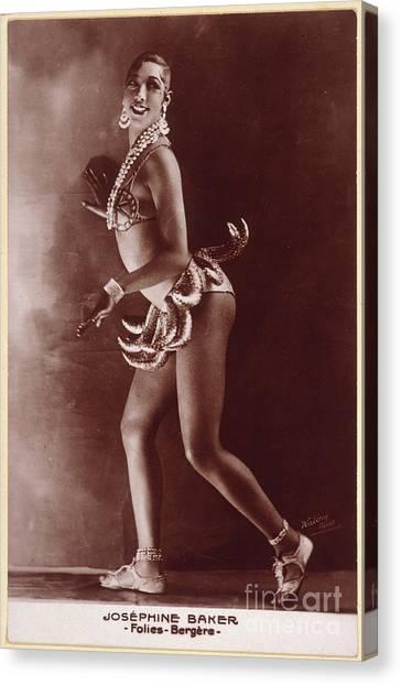 Josephine Baker (1906-1975) Canvas Print by Granger