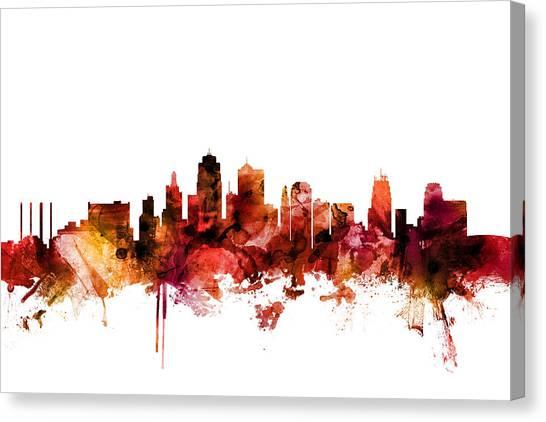 Kansas Canvas Print - Kansas City Missouri Skyline by Michael Tompsett