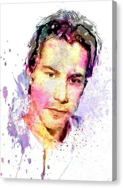 Keanu Reeves Canvas Print - Keanu Reeves by Elena Kosvincheva