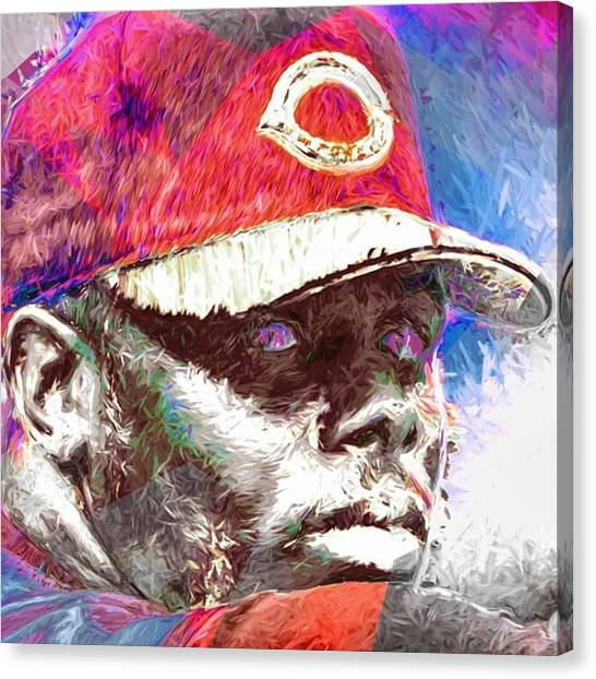 Baseball Canvas Print - #kengriffeyjr #mlb #halloffame by David Haskett II
