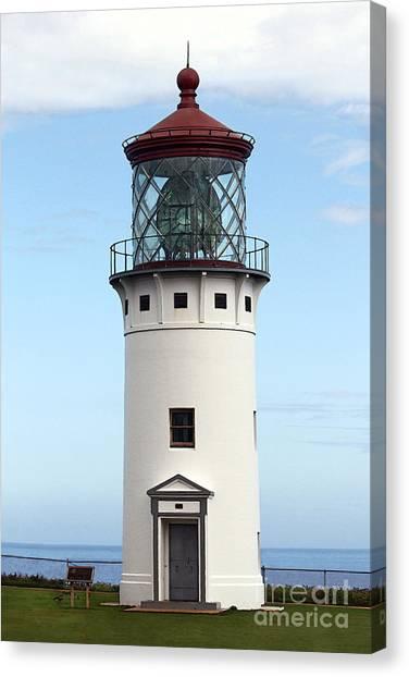 Kilauea Lighthouse On Kauai Canvas Print