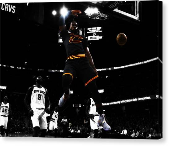 Kyrie Irving Canvas Print - King James by Brian Reaves