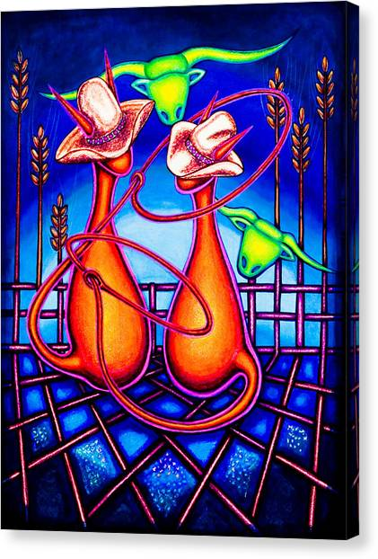 Kowboy Kats Canvas Print