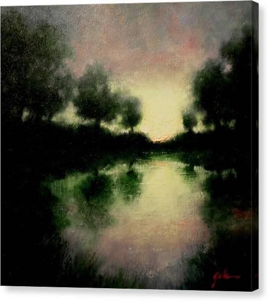 Canvas Print - Lagoon At Sunset by Jim Gola