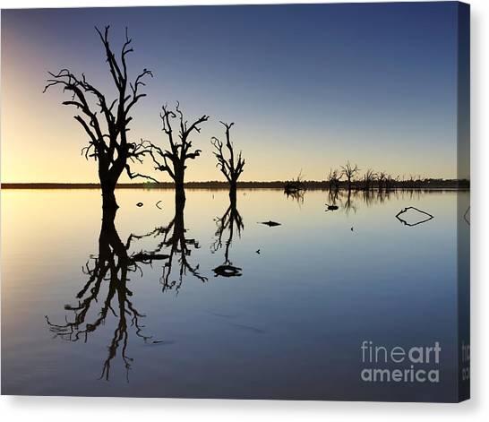 Drown Canvas Print - Lake Bonney Barmera Riverland South Australia by Bill  Robinson