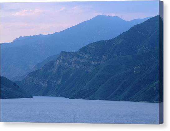 Water Skis Canvas Print - Lake Piru by Soli Deo Gloria Wilderness And Wildlife Photography