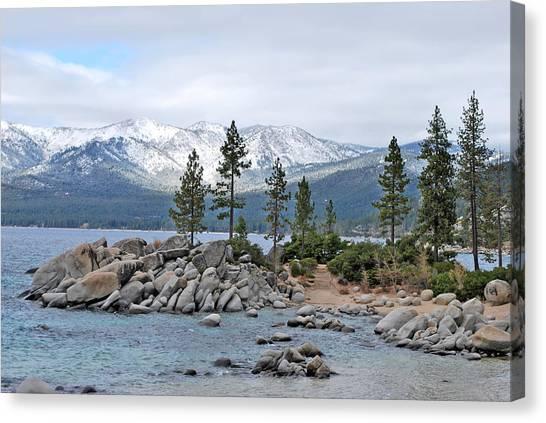 Lake Tahoe Canvas Print by Linda Sramek