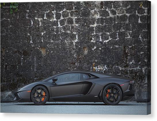 Canvas Print featuring the photograph #lamborghini #aventador  by ItzKirb Photography