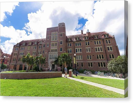 Florida State Fsu Canvas Print - Landis Hall At Florida State University by Bryan Pollard