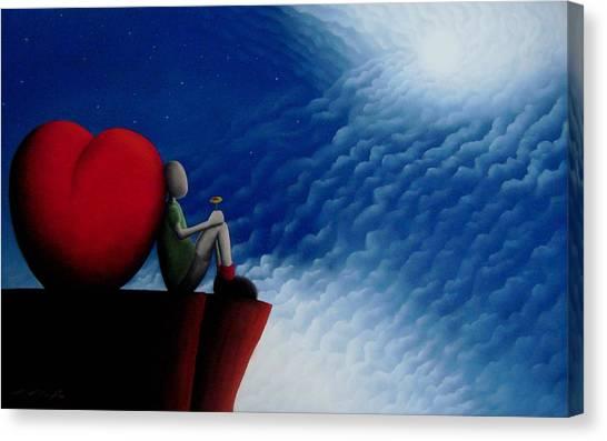 Lean On Love Canvas Print