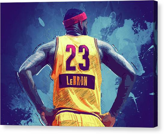 Bob Ross Canvas Print - Lebron James by Semih Yurdabak