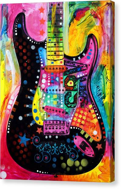 Guitar Canvas Print - Lenny Strat by Dean Russo Art