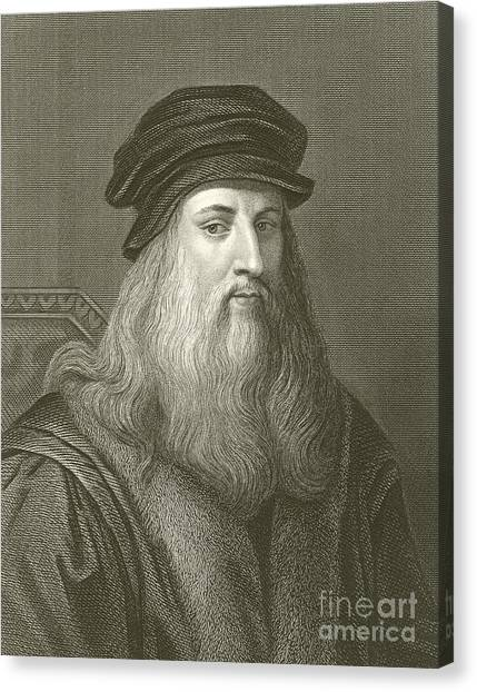 Sculptors Canvas Print - Leonardo Da Vinci by English School