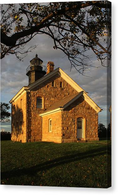 Lighthouse Old Field Point New York Canvas Print