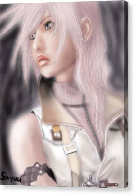 Final Fantasy Canvas Print - Lightning. Final Fantasy 13 by Sandra Geis