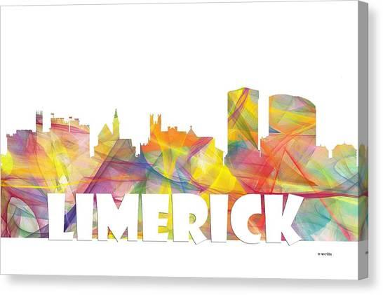 Limerick Ireland Skyline Canvas Print