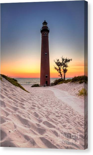 Little Sable Point Light Station Canvas Print