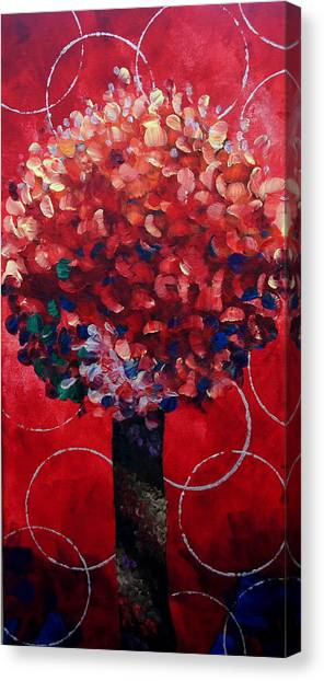 Lollipop Tree Red Canvas Print