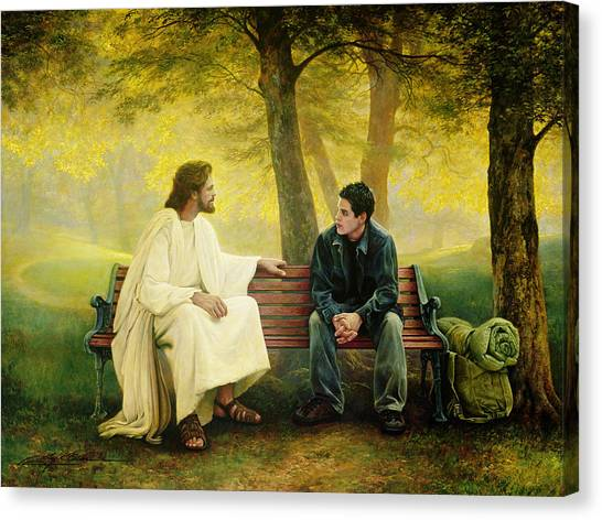 Back Canvas Print - Lost And Found by Greg Olsen