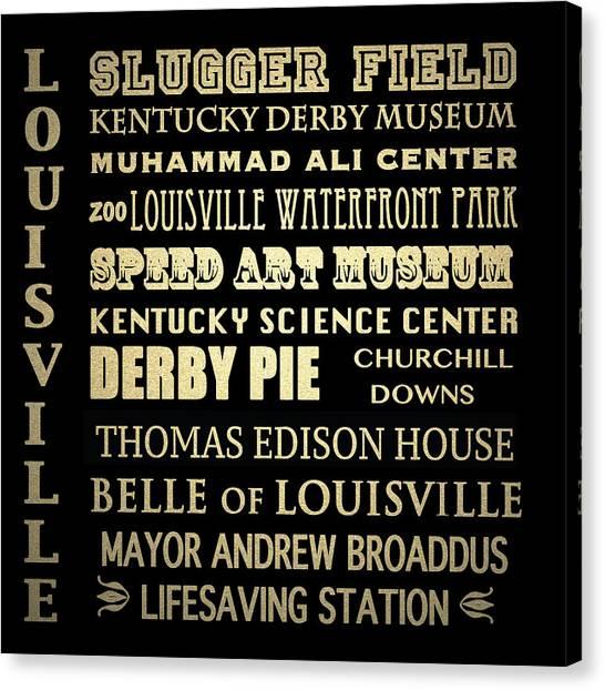 Louisville Famous Landmarks Canvas Print