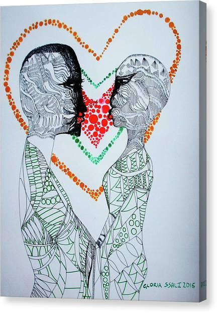 Love Is A Heart Canvas Print
