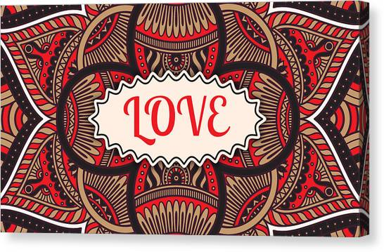Delta Sigma Theta Canvas Print - Love by Tammy Groves Thornton