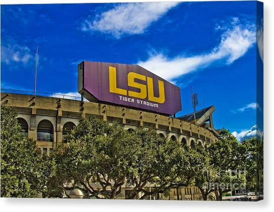 Louisiana State University Lsu Canvas Print - Lsu Tiger Stadium by Scott Pellegrin