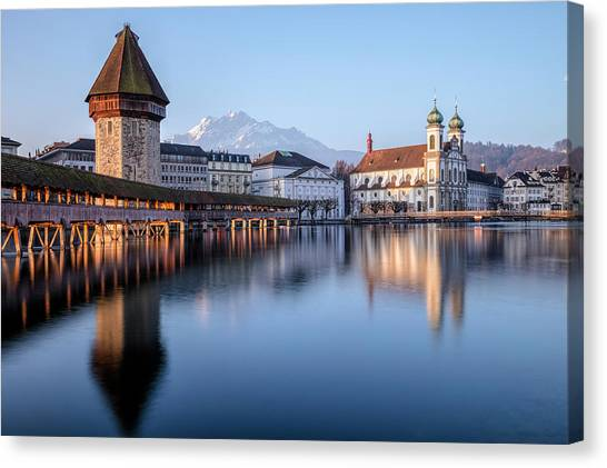 Europa Canvas Print - Lucerne - Switzerland by Joana Kruse