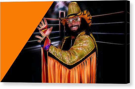 Randy Savage Canvas Print - Macho Man Randy Savage Collection by Marvin Blaine