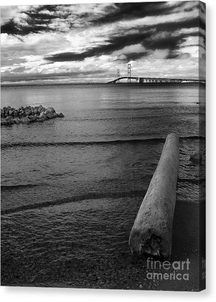 Mackinac Bridge - Infrared 01 Canvas Print