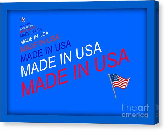 Made In Usa Canvas Print