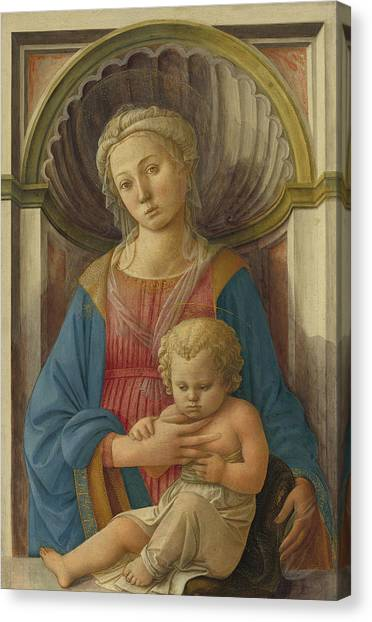 Early Christian Art Canvas Print - Madonna And Child by Fra Filippo Lippi