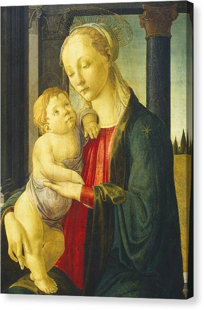 Botticelli Canvas Print - Madonna And Child by Sandro Botticelli