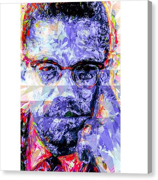 Racism Canvas Print - Malcolm X Was Told He Could Be Nothing by David Haskett