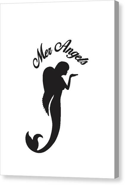 Angel Mermaids Ocean Canvas Print - Malibu Mer Angels by Chrystyna Wolford