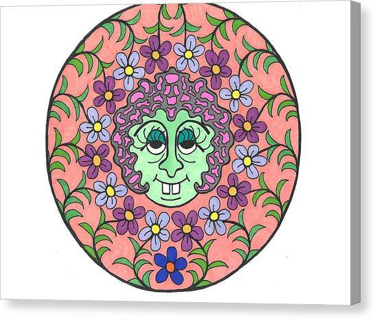 Goofy Green Witch Canvas Print