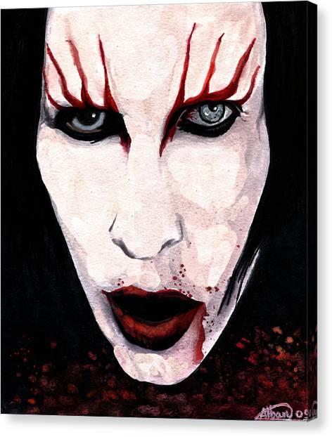 Marilyn Manson Portrait Canvas Print