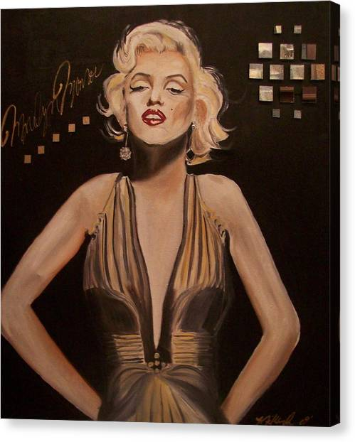 Marilyn Monroe  Canvas Print by Mikayla Ziegler