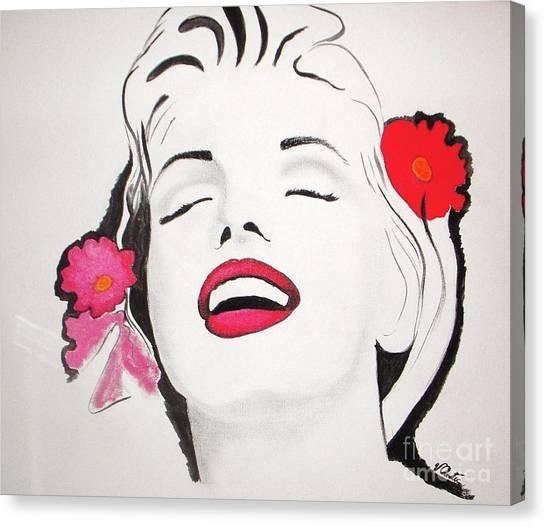 Monroe Canvas Print - Marilyn Monroe by Vesna Antic